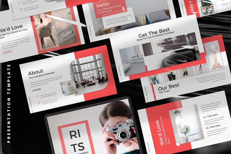 Rits Creative Google Slide, Slide 6, 07394, Presentation Templates — PoweredTemplate.com