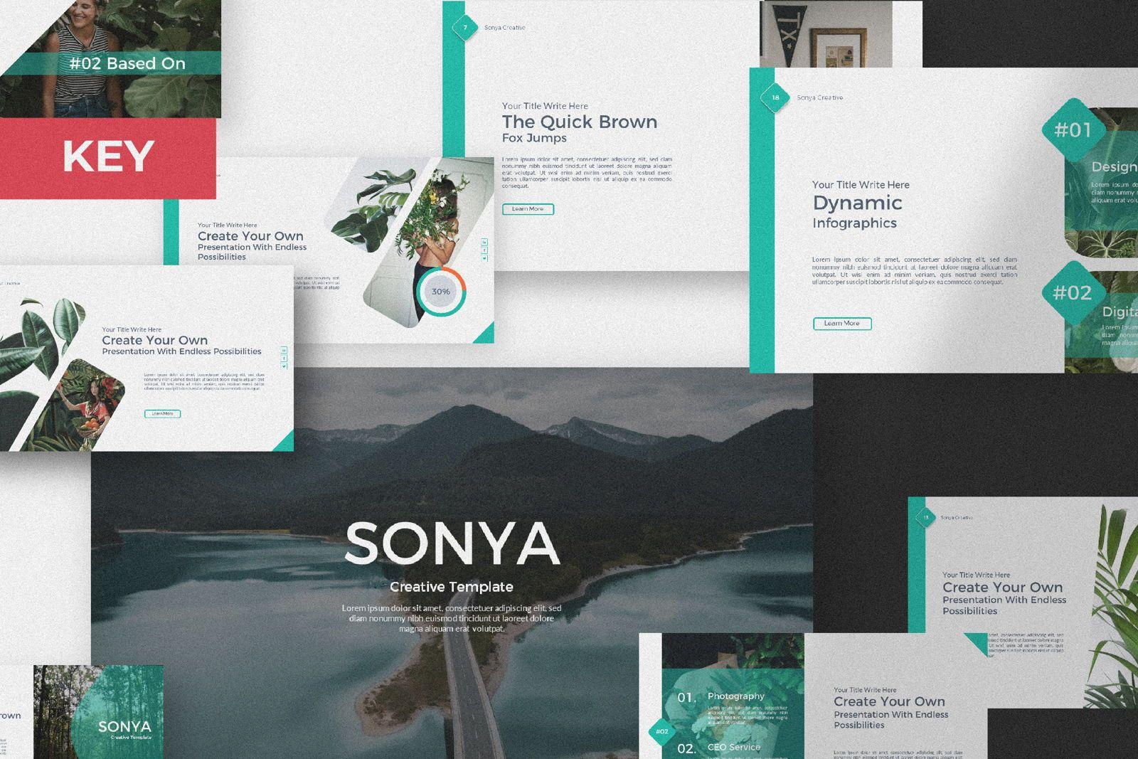 Sonya Creative Business Keynote, 07397, Presentation Templates — PoweredTemplate.com
