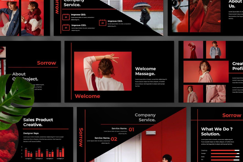 Sorrow Business Google Slide, Slide 5, 07399, Presentation Templates — PoweredTemplate.com