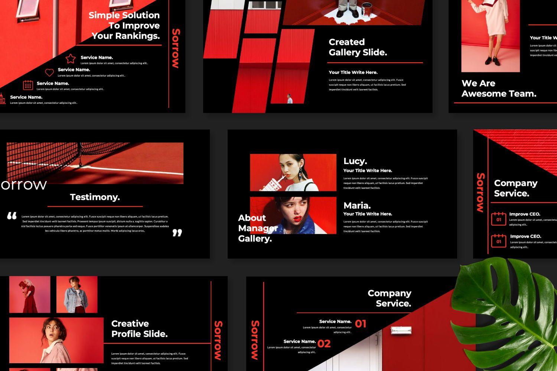 Sorrow Business Google Slide, Slide 6, 07399, Presentation Templates — PoweredTemplate.com