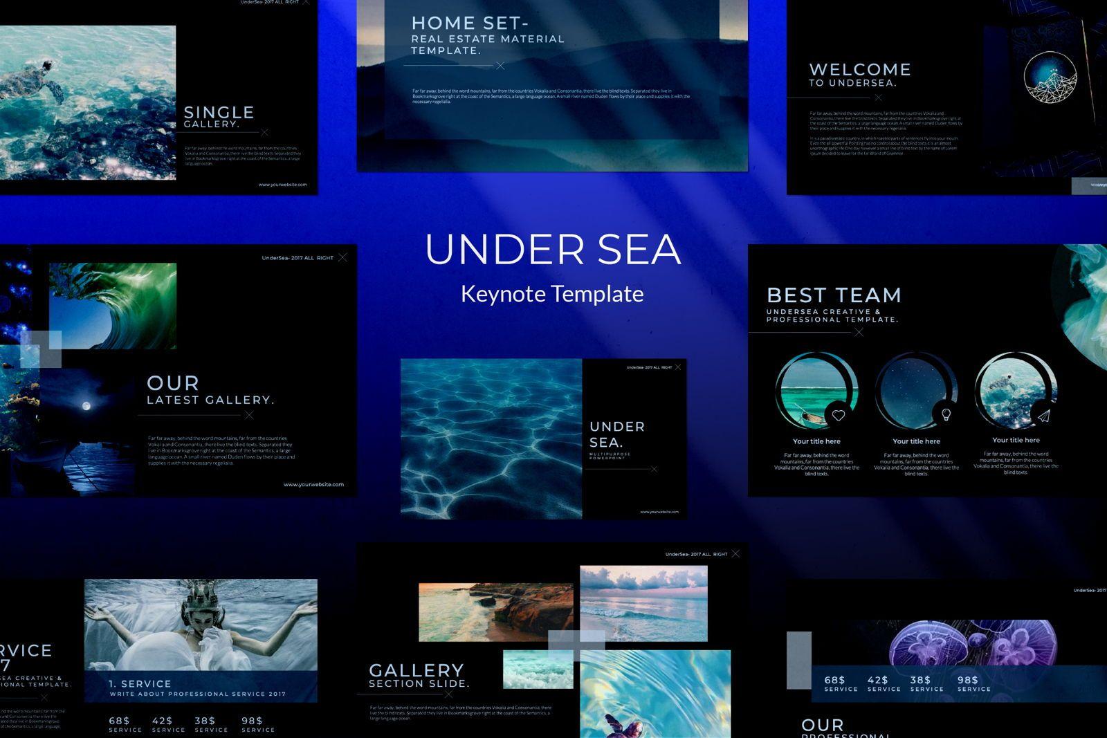 Undersea Business Keynote, 07403, Presentation Templates — PoweredTemplate.com