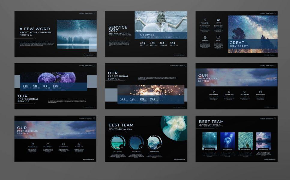 Undersea Business Keynote, Slide 2, 07403, Presentation Templates — PoweredTemplate.com