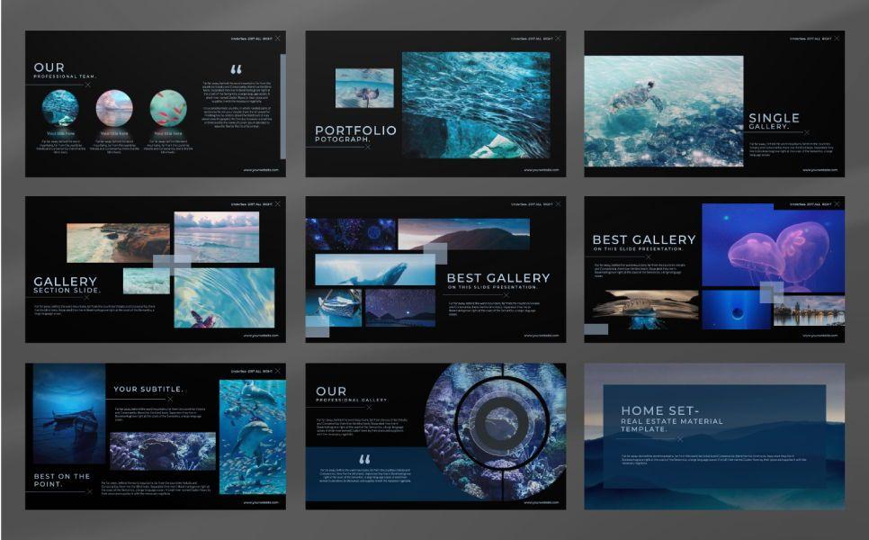 Undersea Business Keynote, Slide 3, 07403, Presentation Templates — PoweredTemplate.com