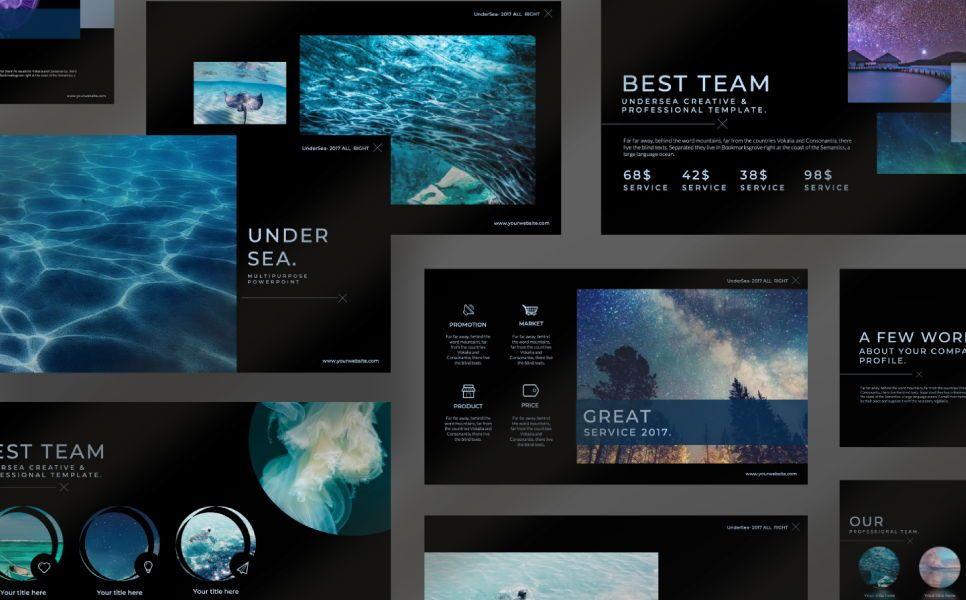 Undersea Business Keynote, Slide 5, 07403, Presentation Templates — PoweredTemplate.com