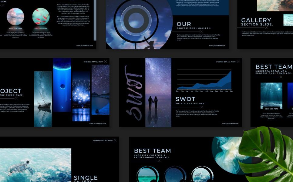 Undersea Business Keynote, Slide 6, 07403, Presentation Templates — PoweredTemplate.com