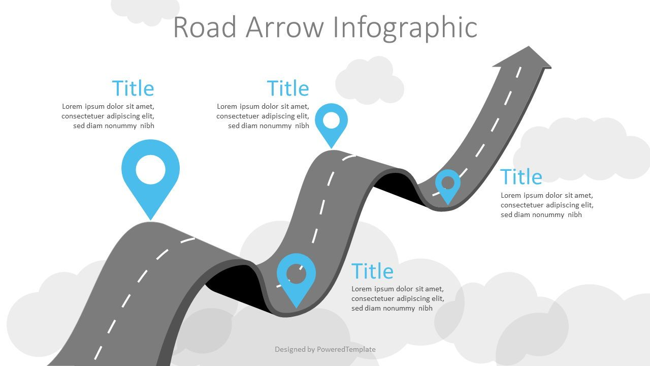 Arrow Roadmap Goes to Sky, 07404, Business Models — PoweredTemplate.com