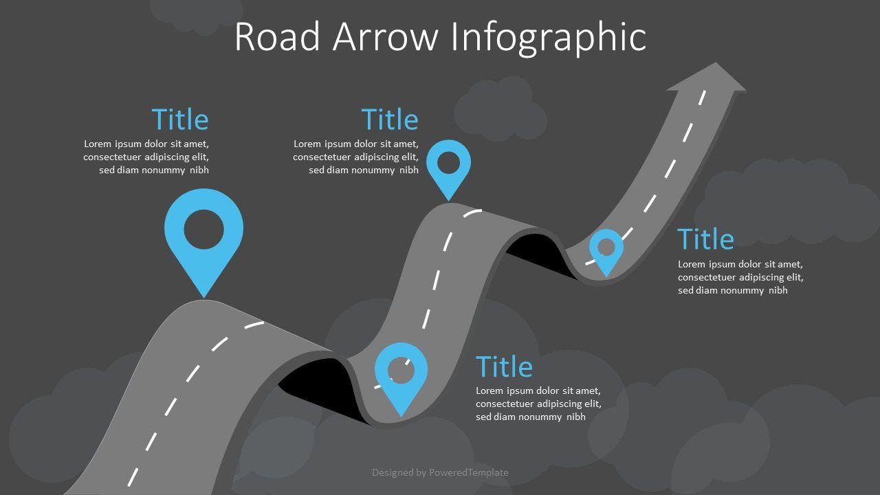 Arrow Roadmap Goes to Sky, Slide 2, 07404, Business Models — PoweredTemplate.com