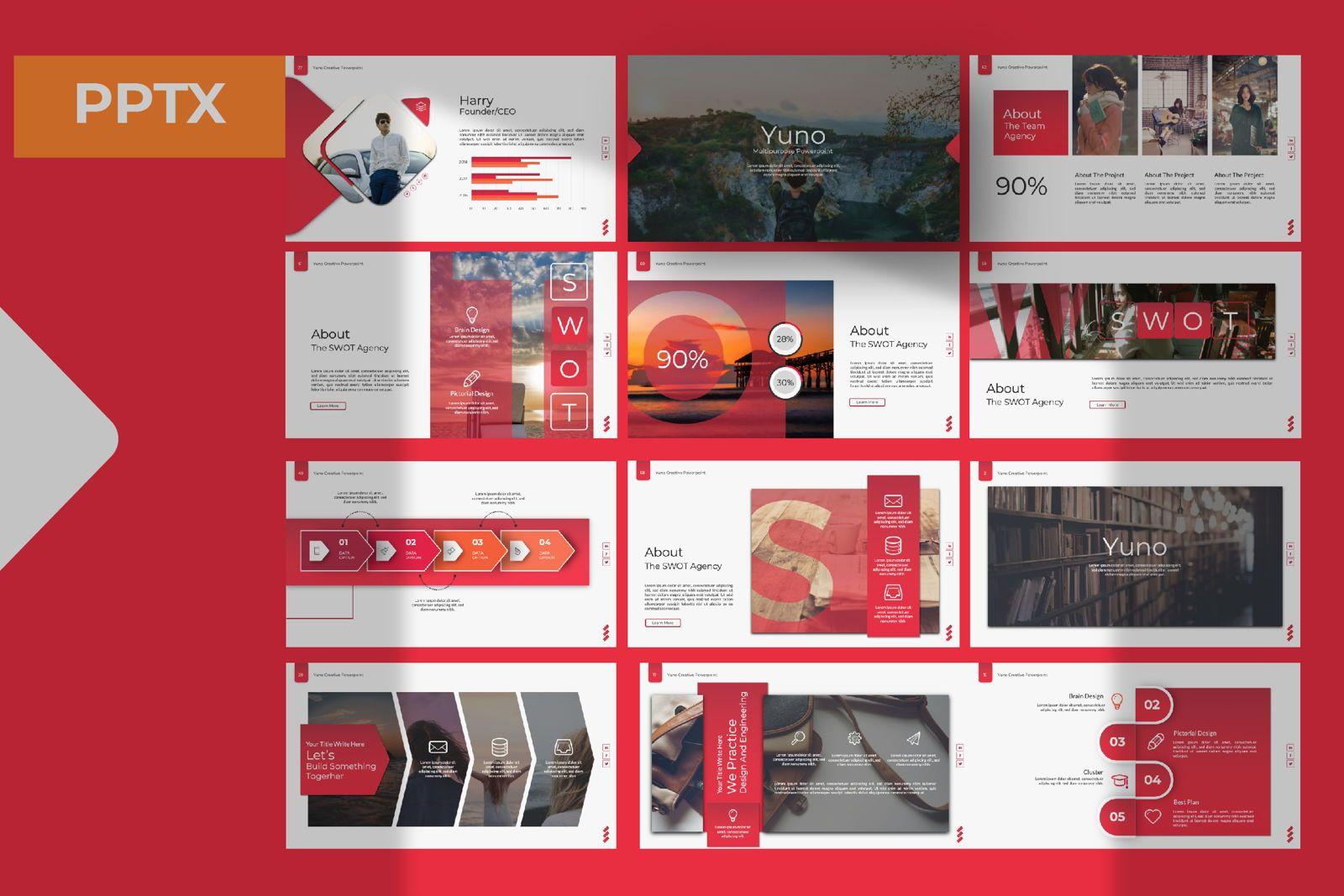 Yuno Business Powerpoint, 07405, Presentation Templates — PoweredTemplate.com