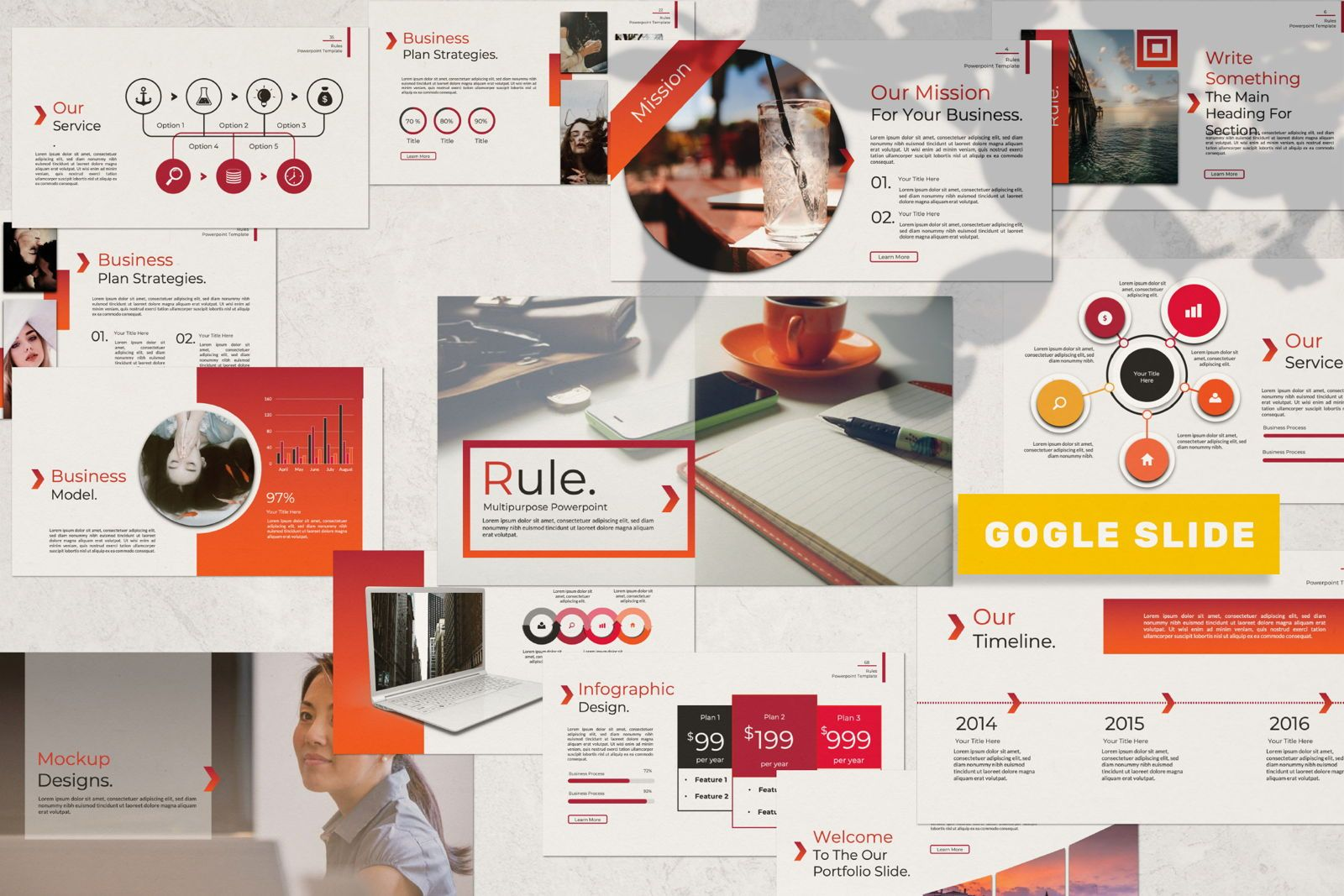 Rule Creative Google Slide, 07408, Presentation Templates — PoweredTemplate.com