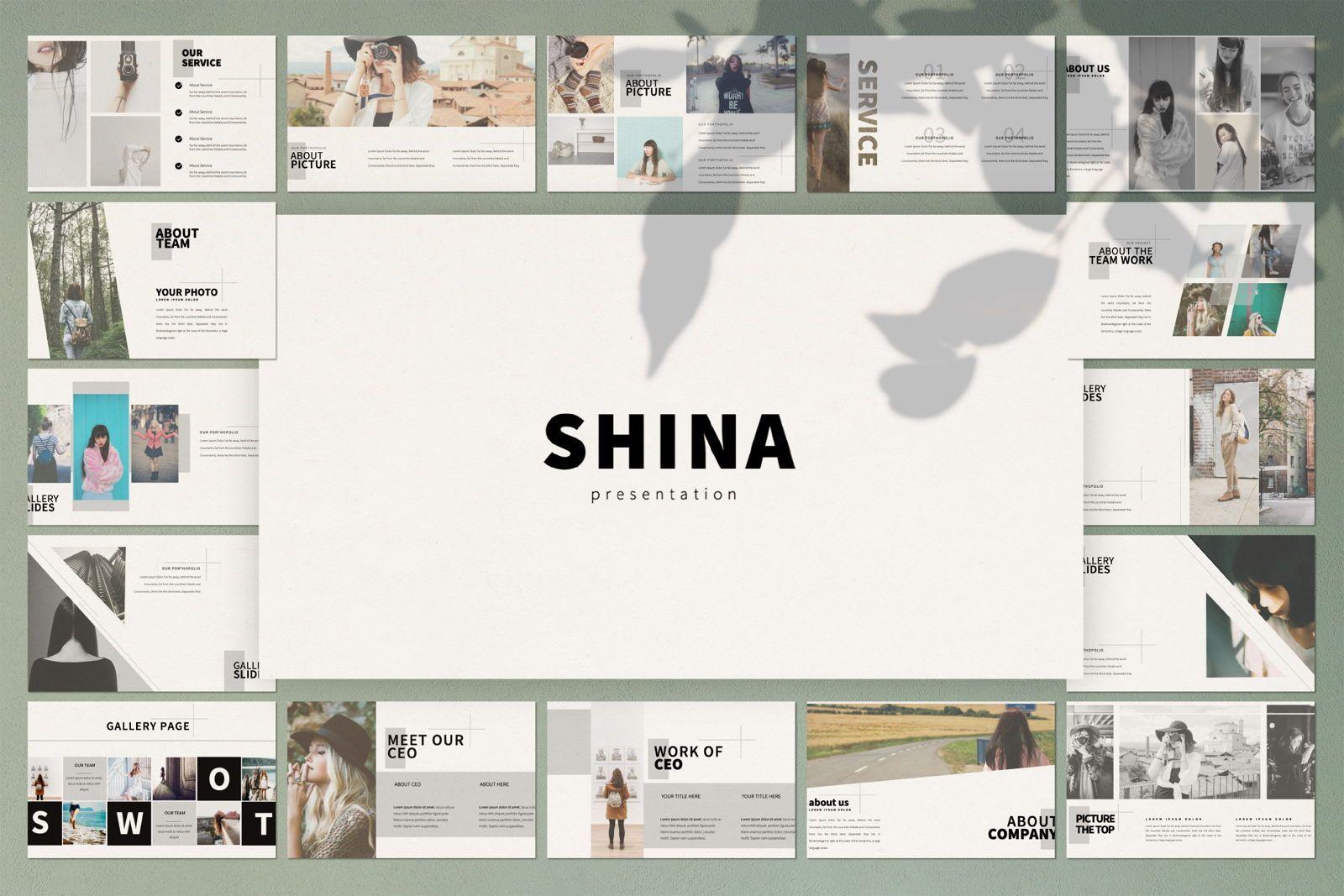 Shina Business Google Slide, 07409, Presentation Templates — PoweredTemplate.com