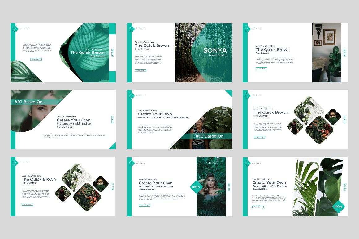 Sonya Creative Business Google Slide, Slide 2, 07410, Presentation Templates — PoweredTemplate.com