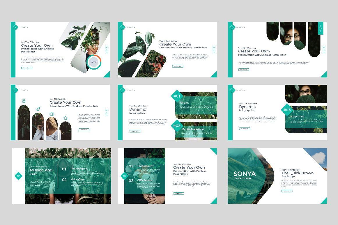 Sonya Creative Business Google Slide, Slide 3, 07410, Presentation Templates — PoweredTemplate.com