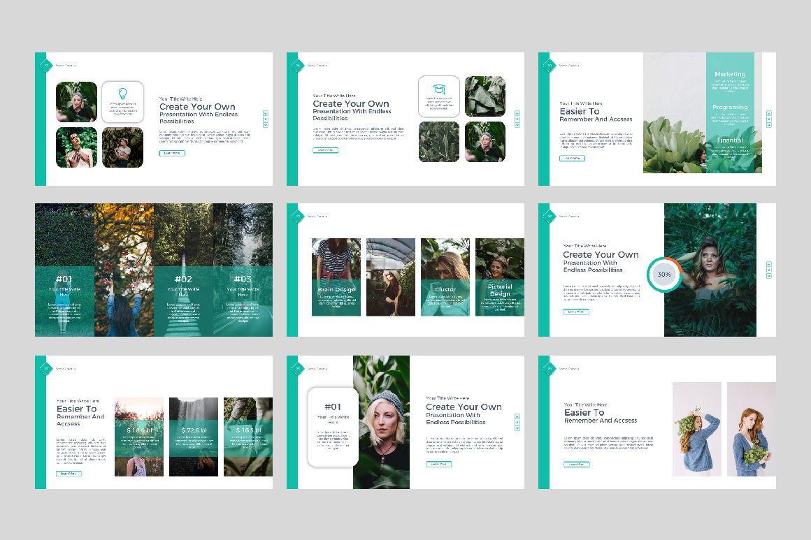 Sonya Creative Business Google Slide, Slide 4, 07410, Presentation Templates — PoweredTemplate.com
