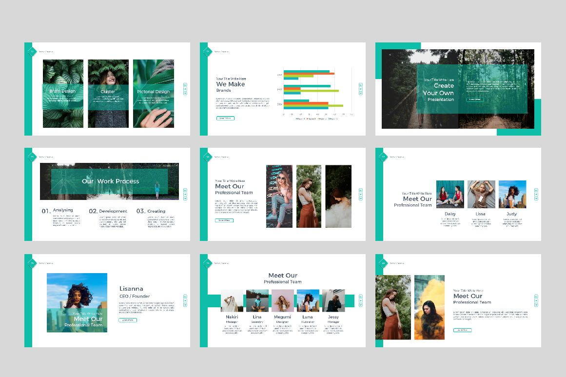 Sonya Creative Business Google Slide, Slide 5, 07410, Presentation Templates — PoweredTemplate.com