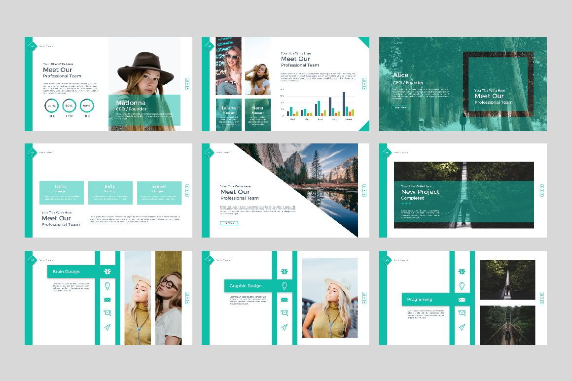 Sonya Creative Business Google Slide, Slide 6, 07410, Presentation Templates — PoweredTemplate.com