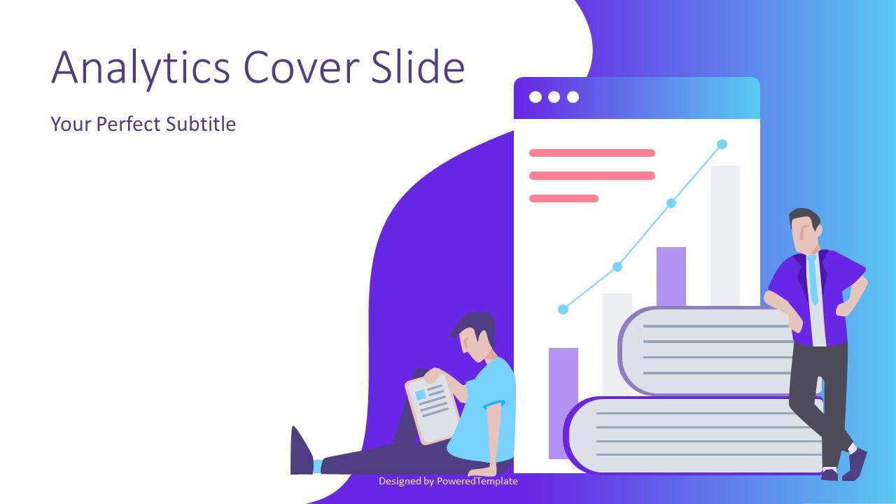 Financial Analytics Cover Slide, 07411, Presentation Templates — PoweredTemplate.com