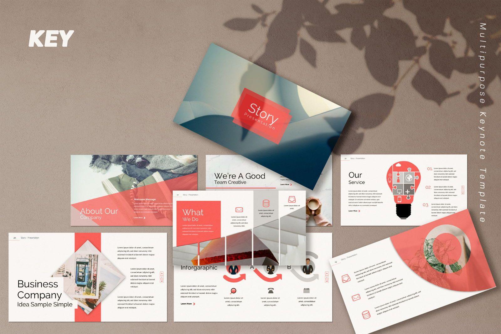 Story Business Keynote, 07412, Presentation Templates — PoweredTemplate.com