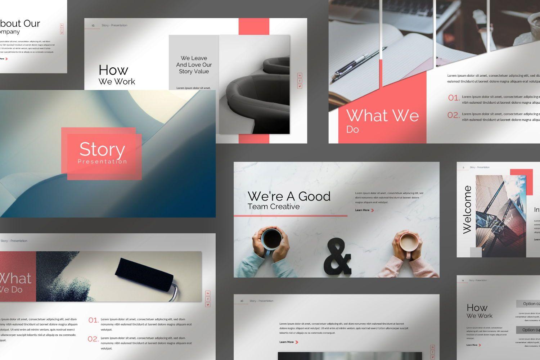Story Business Keynote, Slide 10, 07412, Presentation Templates — PoweredTemplate.com