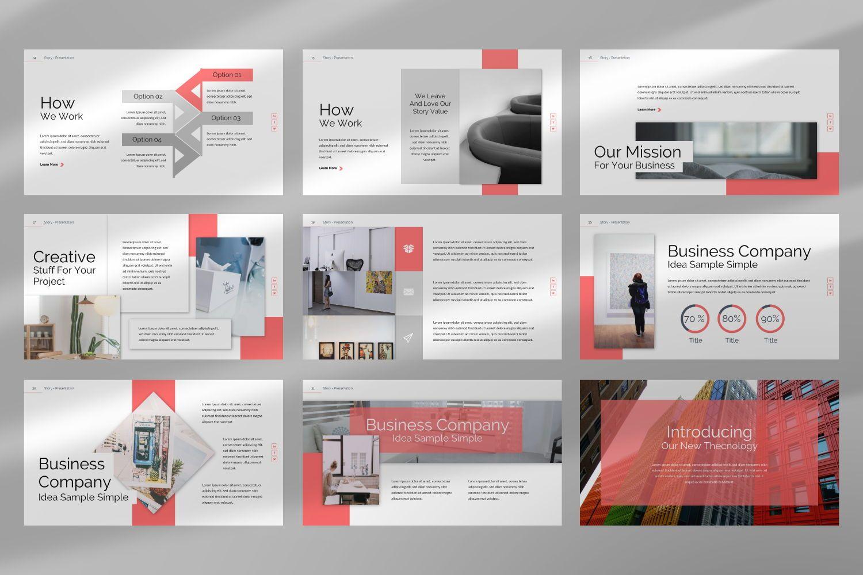 Story Business Keynote, Slide 4, 07412, Presentation Templates — PoweredTemplate.com