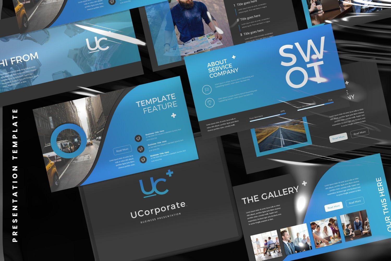 UCorporate Business Powerpoint, 07413, Presentation Templates — PoweredTemplate.com