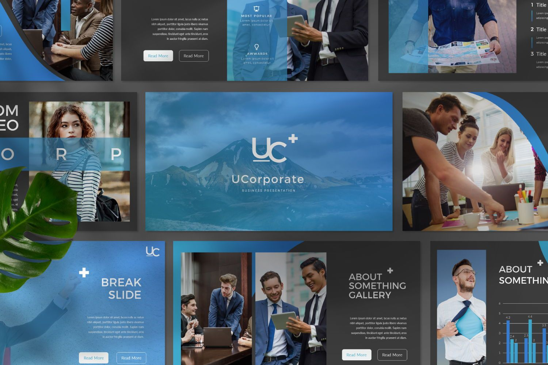 UCorporate Business Powerpoint, Slide 3, 07413, Presentation Templates — PoweredTemplate.com