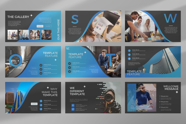 UCorporate Business Powerpoint, Slide 5, 07413, Presentation Templates — PoweredTemplate.com