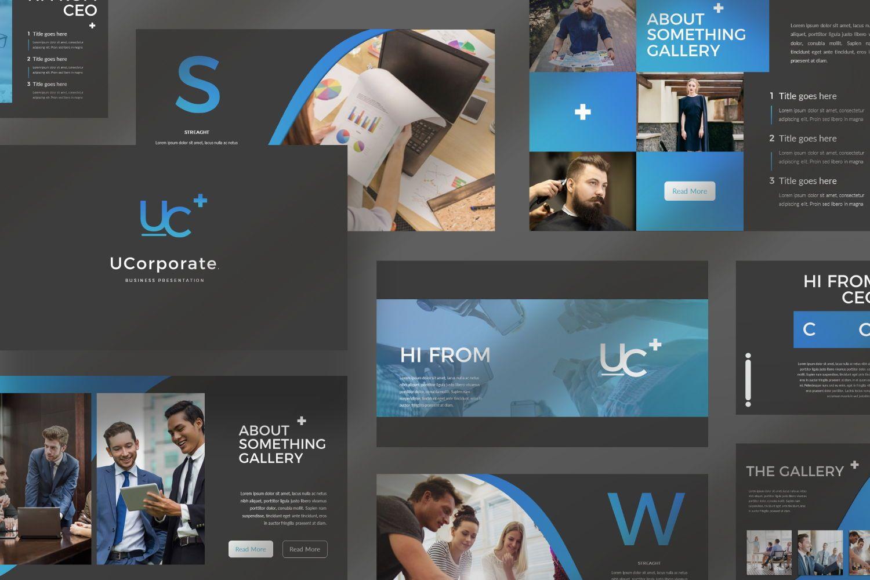 UCorporate Business Powerpoint, Slide 9, 07413, Presentation Templates — PoweredTemplate.com