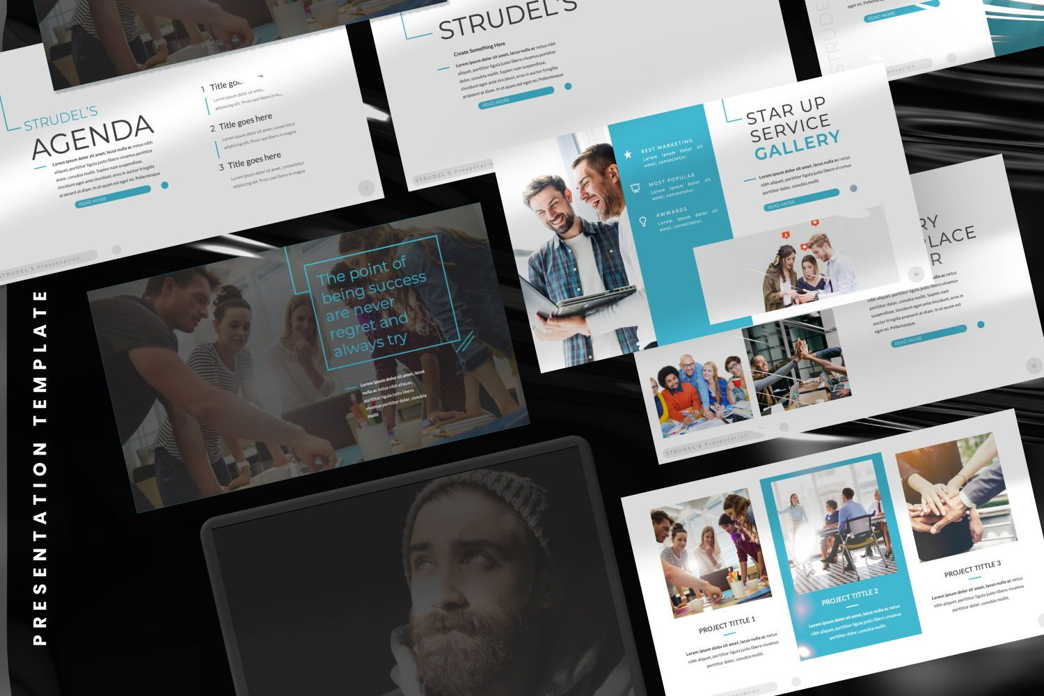 Strudel's Business Google Slide, Slide 8, 07414, Presentation Templates — PoweredTemplate.com