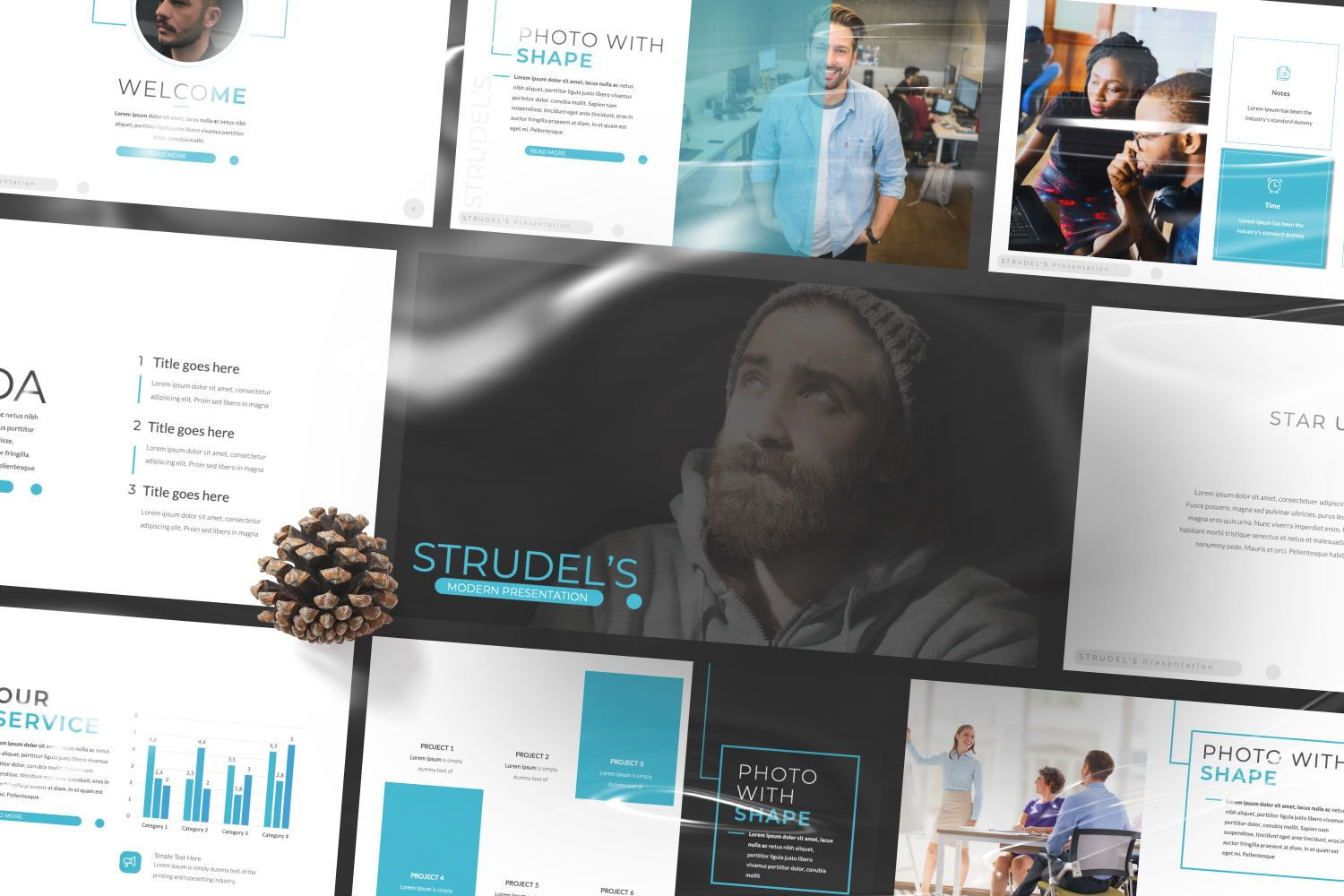 Strudel's Business Google Slide, Slide 9, 07414, Presentation Templates — PoweredTemplate.com
