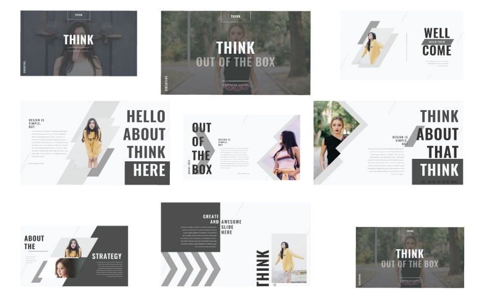 Think Creative Google Slide, Slide 2, 07415, Presentation Templates — PoweredTemplate.com