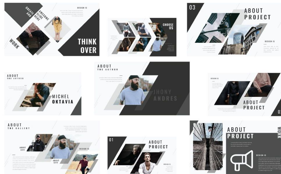 Think Creative Google Slide, Slide 4, 07415, Presentation Templates — PoweredTemplate.com