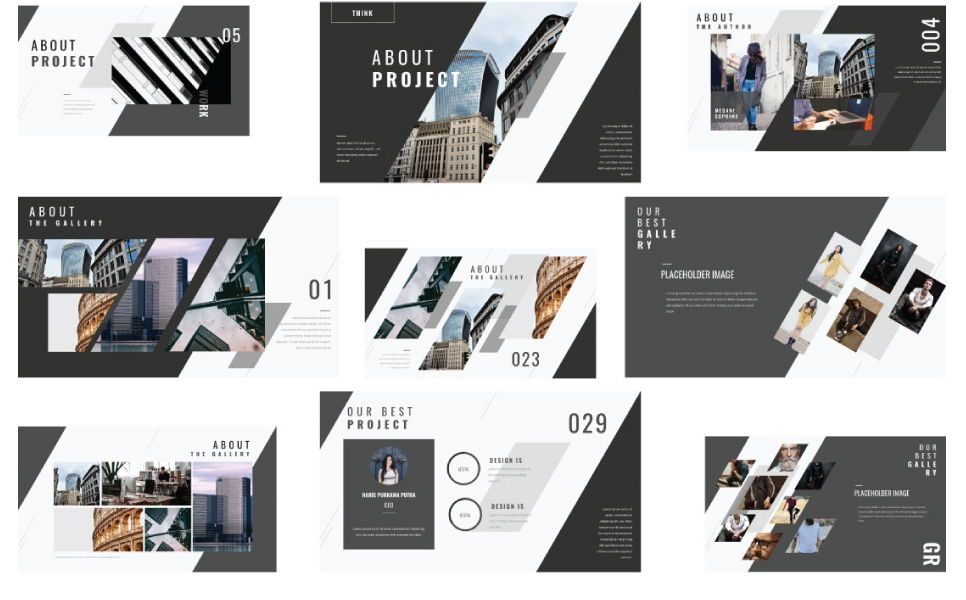 Think Creative Google Slide, Slide 5, 07415, Presentation Templates — PoweredTemplate.com