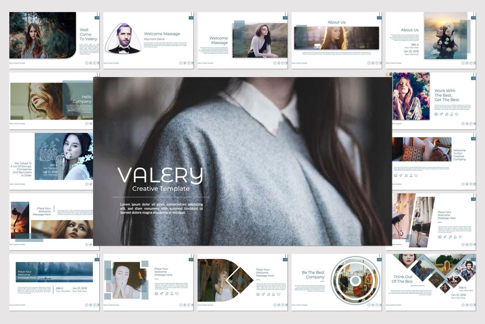 Vallery Business Powerpoint, 07418, Presentation Templates — PoweredTemplate.com