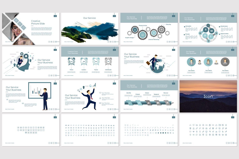 Vallery Business Powerpoint, Slide 4, 07418, Presentation Templates — PoweredTemplate.com