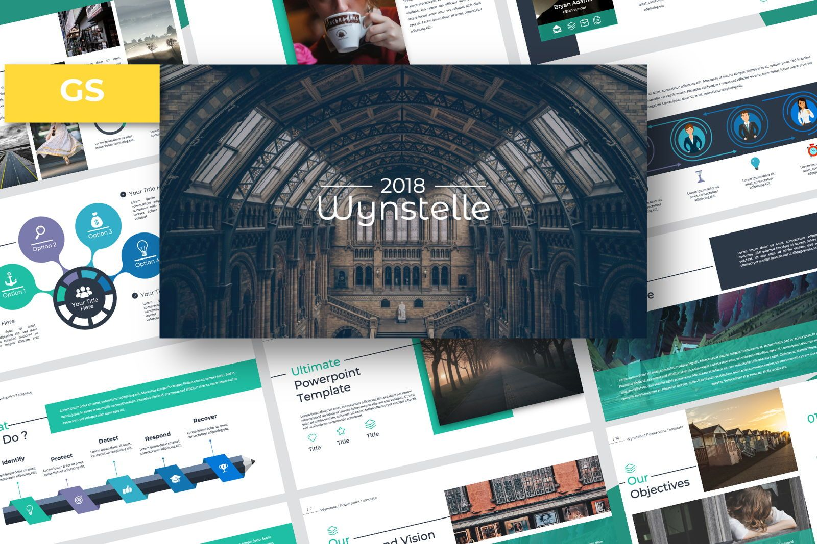 Wynstelle Creative Google Slide, 07419, Presentation Templates — PoweredTemplate.com