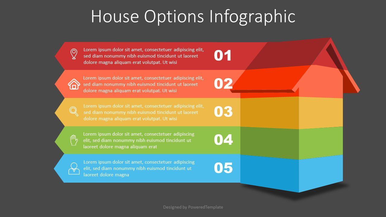 House Options Infographic, Slide 2, 07422, Infographics — PoweredTemplate.com