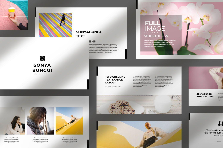 Sonya Bunggi Creative Keynote, 07423, Presentation Templates — PoweredTemplate.com