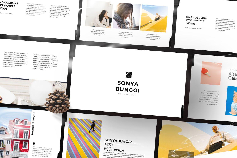 Sonya Bunggi Creative Keynote, Slide 2, 07423, Presentation Templates — PoweredTemplate.com