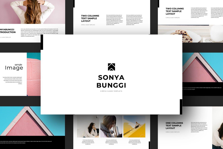 Sonya Bunggi Creative Keynote, Slide 3, 07423, Presentation Templates — PoweredTemplate.com
