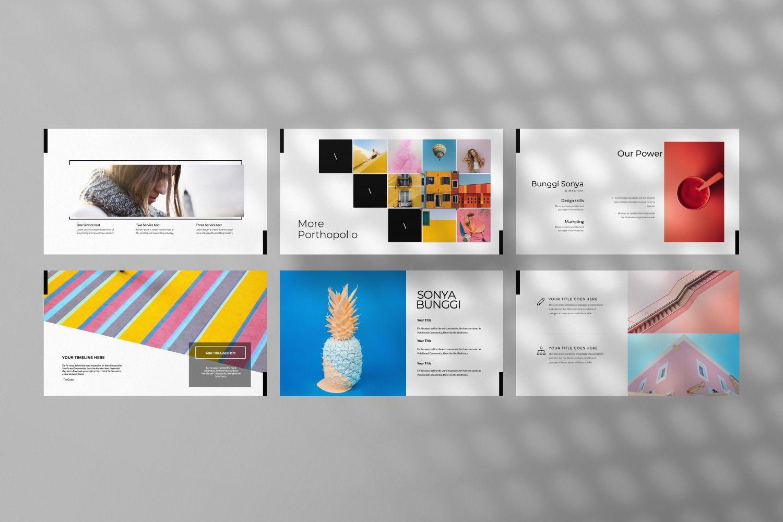 Sonya Bunggi Creative Keynote, Slide 7, 07423, Presentation Templates — PoweredTemplate.com
