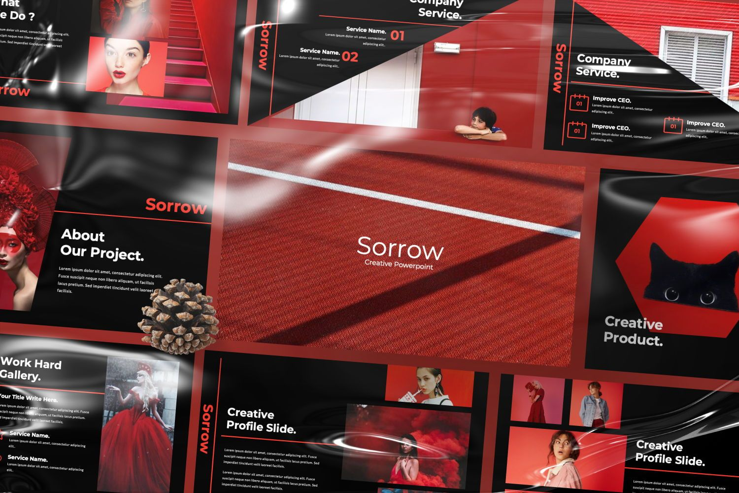 Sorrow Business Keynote, 07424, Presentation Templates — PoweredTemplate.com