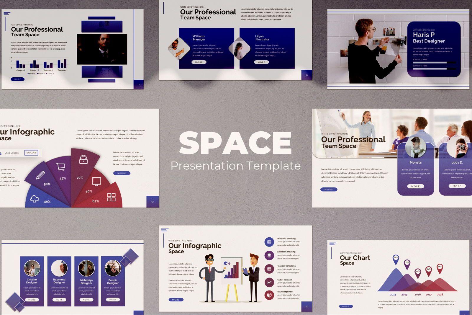 Space Business Powerpoint, 07425, Presentation Templates — PoweredTemplate.com