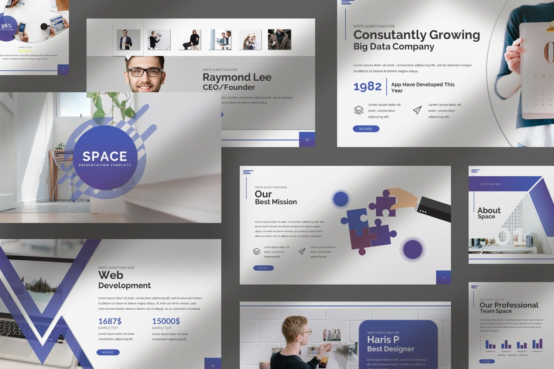 Space Business Powerpoint, Slide 10, 07425, Presentation Templates — PoweredTemplate.com