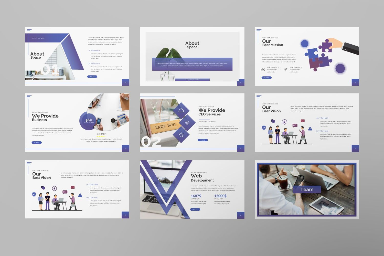 Space Business Powerpoint, Slide 5, 07425, Presentation Templates — PoweredTemplate.com