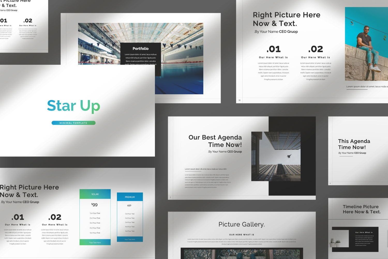 Star Up Creative Keynote, Slide 7, 07427, Presentation Templates — PoweredTemplate.com
