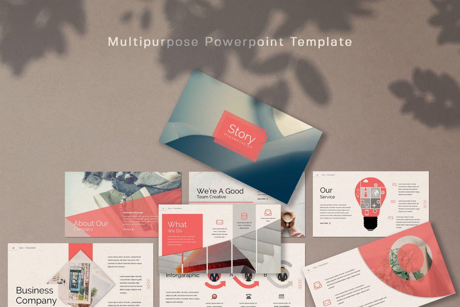 Story Business Powerpoint, 07428, Presentation Templates — PoweredTemplate.com