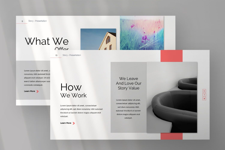 Story Business Powerpoint, Slide 6, 07428, Presentation Templates — PoweredTemplate.com