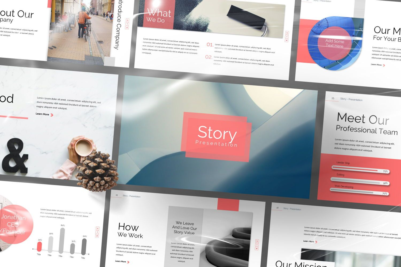 Story Business Powerpoint, Slide 9, 07428, Presentation Templates — PoweredTemplate.com