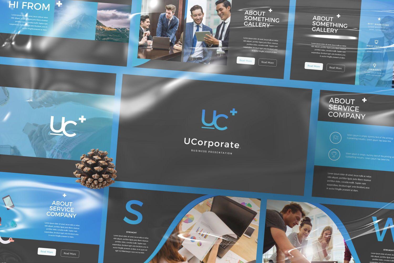 UCorporate Business Google Slide, 07429, Presentation Templates — PoweredTemplate.com