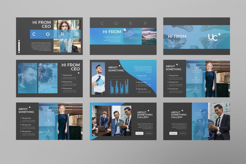 UCorporate Business Google Slide, Slide 4, 07429, Presentation Templates — PoweredTemplate.com